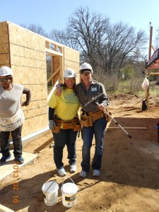 Jeni and Kelli-Habitat House Build 2-13
