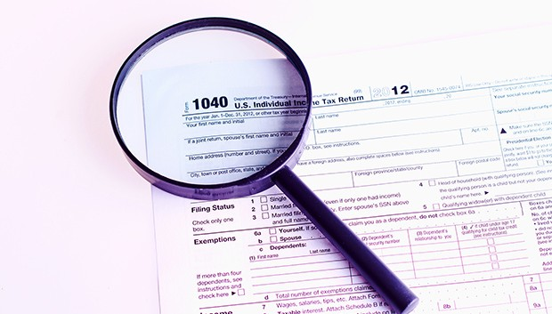 Completing tax information.